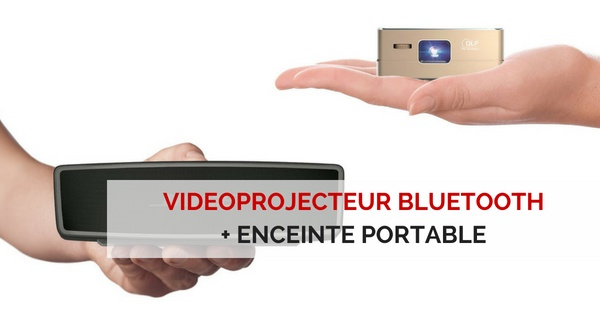 videoprojecteur bluetooth enceinte portable