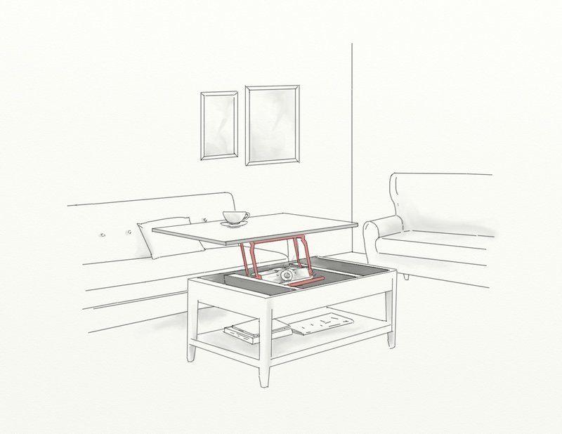 Videoprojeteur dans table basse
