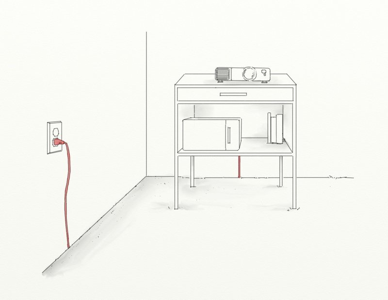 Cacher cables hifi