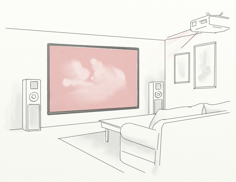 peinture murale pour videoprojecteur